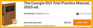 Georgia DUI Trial Practice Manual