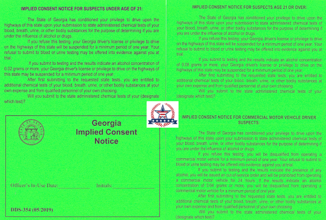 Implied Consent Notice